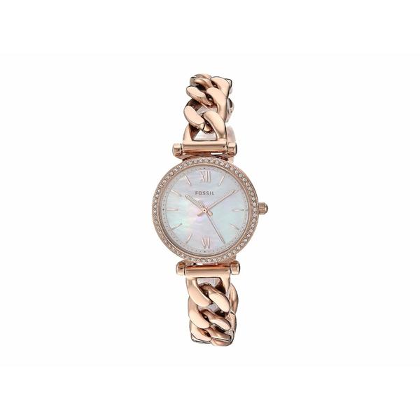 フォッシル レディース 腕時計 アクセサリー Carlie Mini Three-Hand Stainless Steel Watch ES4688 Rose Gold Stainless Steel