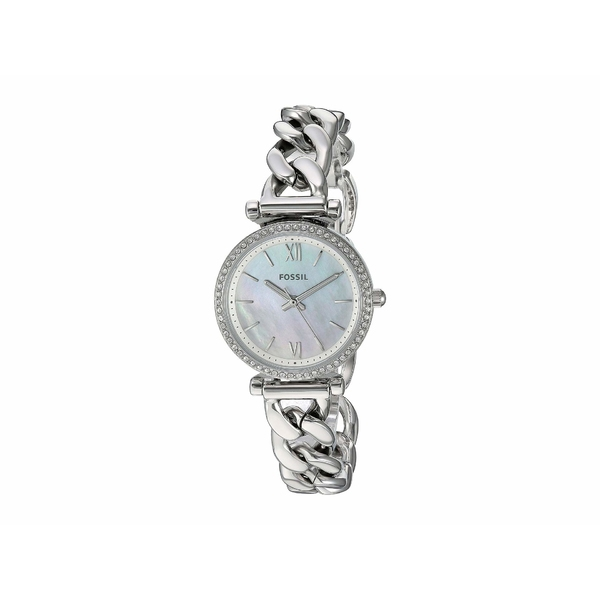 フォッシル レディース 腕時計 アクセサリー Carlie Mini Three-Hand Stainless Steel Watch ES4689 Silver Stainless Steel