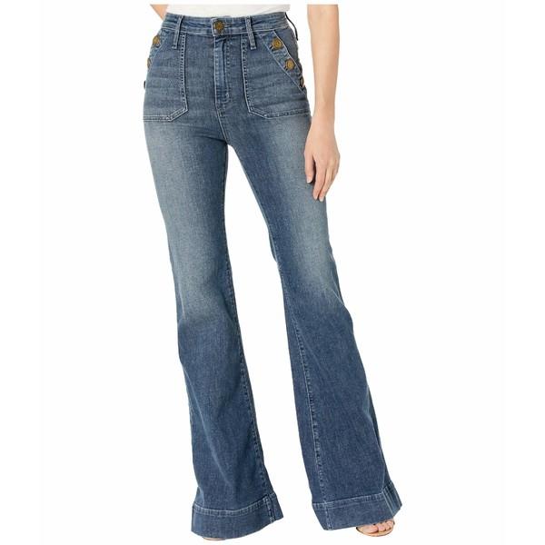 ウミーユアムーム レディース デニムパンツ ボトムス Farrah Button Trousers in Blue Storm Blue Storm