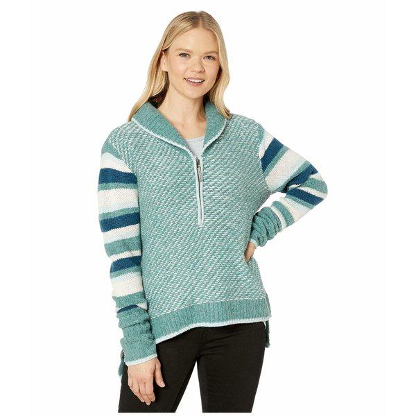 スマートウール レディース ニット&セーター アウター CHUP Potlach 1/2 Zip Sweater Frosty Green Heather