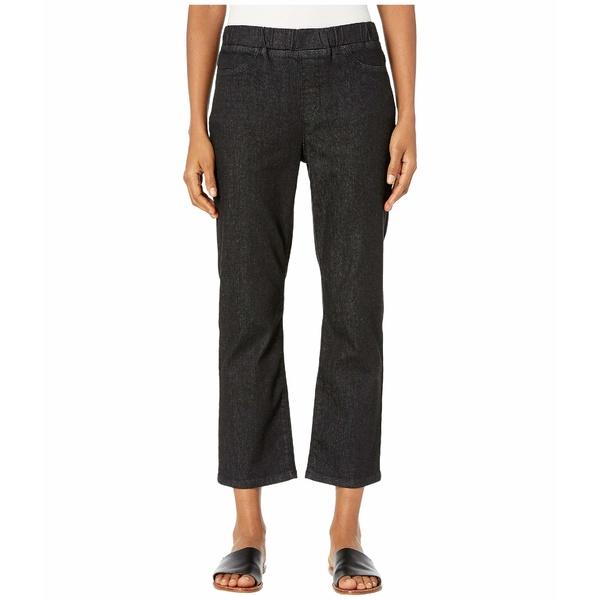 エイリーンフィッシャー レディース デニムパンツ ボトムス Organic Cotton Soft Stretch Denim Slim Jeans in Vintage Black Vintage Black