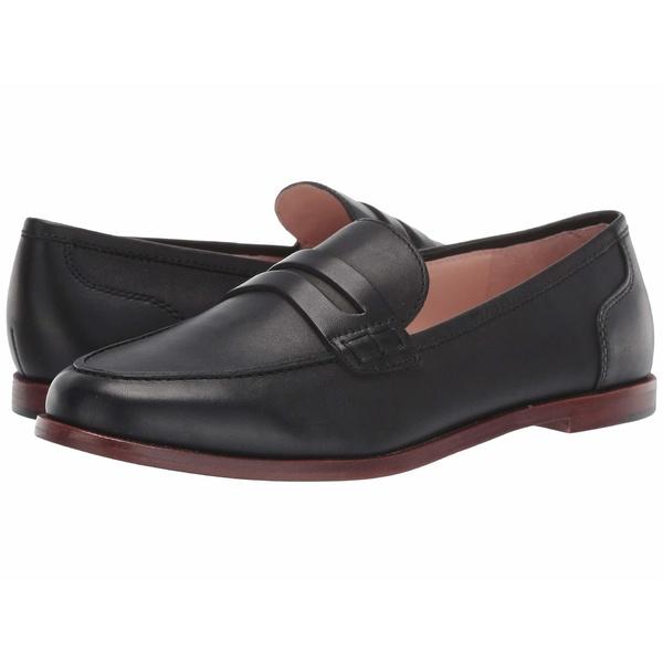 ジェイクルー レディース スリッポン・ローファー シューズ Ryan Penny Loafers in Leather Black