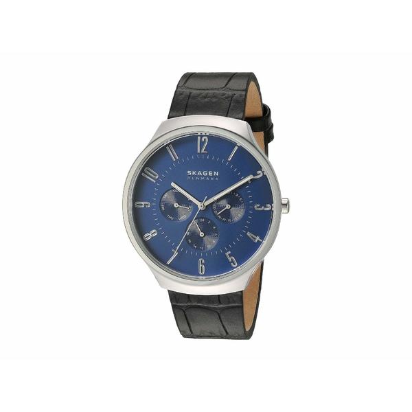 スカーゲン メンズ 腕時計 アクセサリー Grenen Watch SKW6535 Silver Black Leather