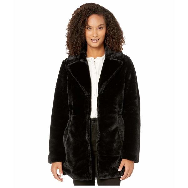 トリバル レディース コート アウター Long Sleeve Notch Collar Coat Black