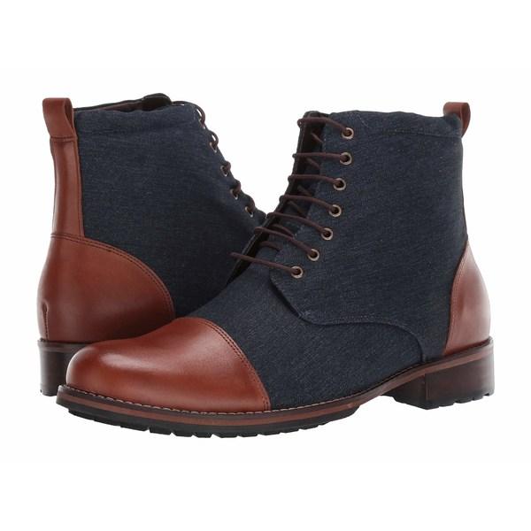 マッシモマッテエロ メンズ ブーツ&レインブーツ シューズ Two-Tone Boot Marinho Canvas/Whiskey Leather