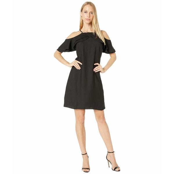 ニコルミラー レディース ワンピース トップス Cold Shoulder Dress Black