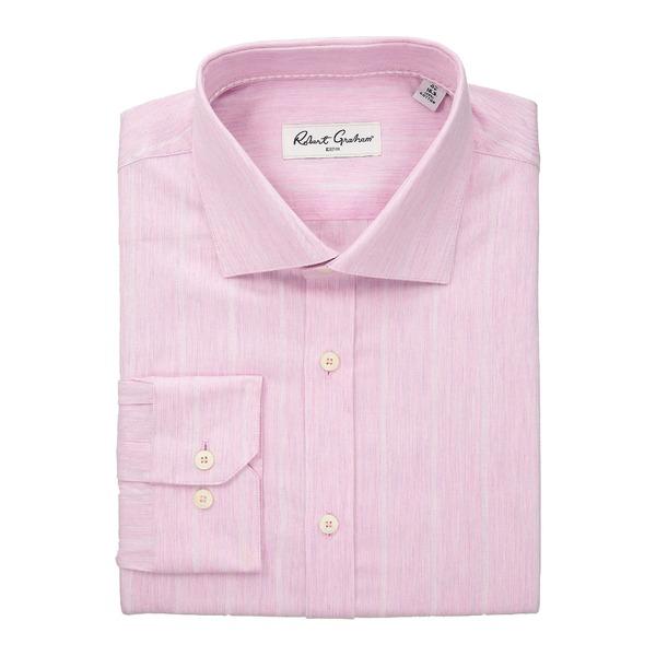 ロバートグラハム メンズ シャツ トップス Storm - Stripe Dress Shirt Pink