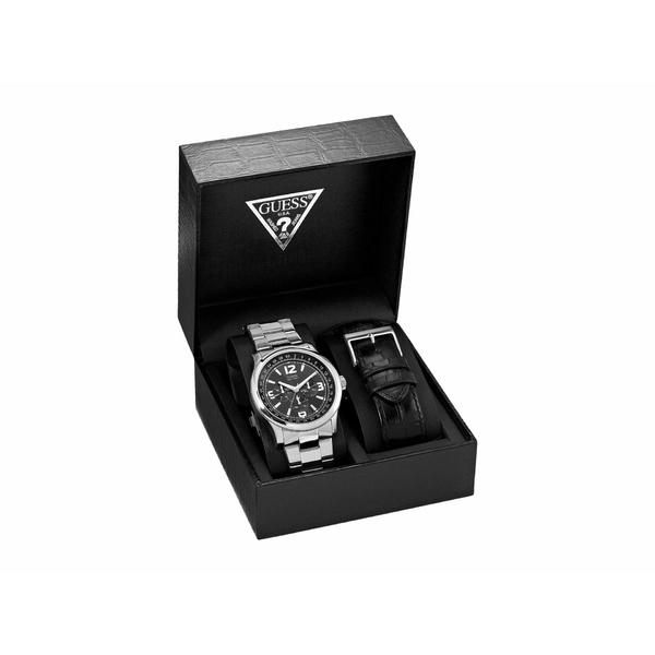 ゲス メンズ 腕時計 アクセサリー U11629G1M Silver/Black