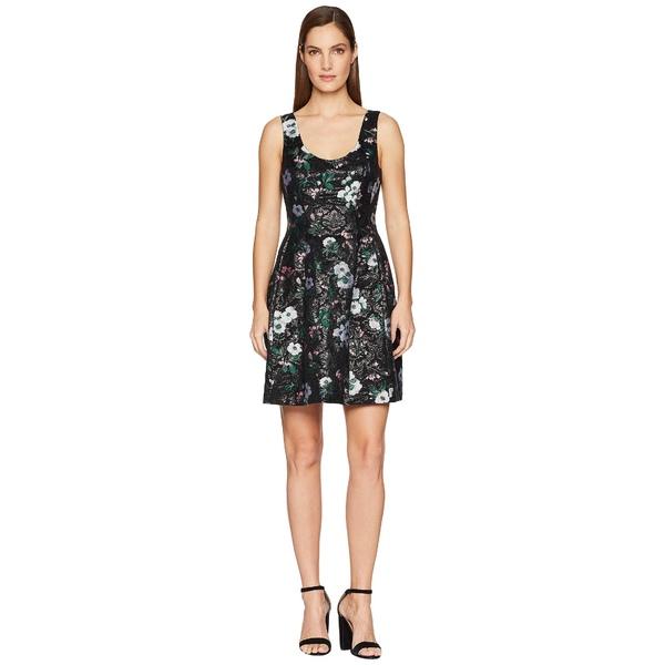 プラバルグラング レディース ワンピース トップス Floral Jacquard Sleeveless Dress Black