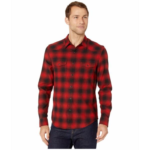 ラッキーブランド メンズ シャツ トップス Santa Fe Western Shirt Red/Black