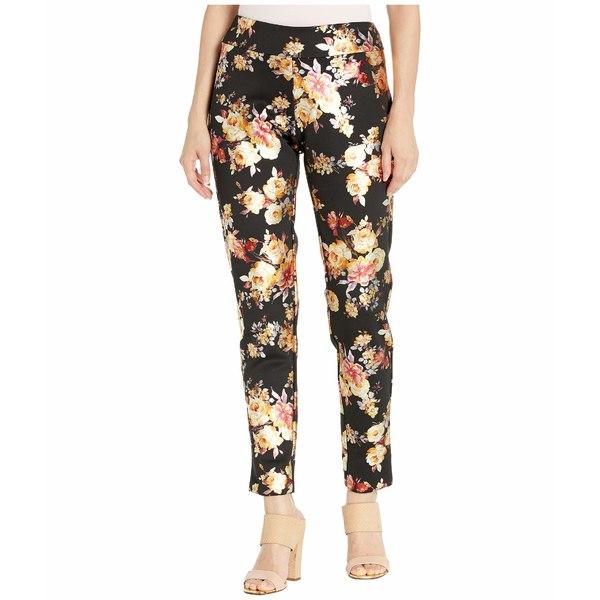 クレイジーラリー レディース カジュアルパンツ ボトムス Metallic Printed Full-Length Pants Black/Gold Flowers