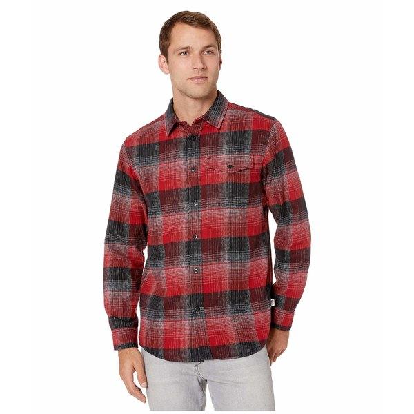 ノースフェイス メンズ シャツ トップス Long Sleeve Stayside Chamois Shirt Cardinal Red Stayin Plaid
