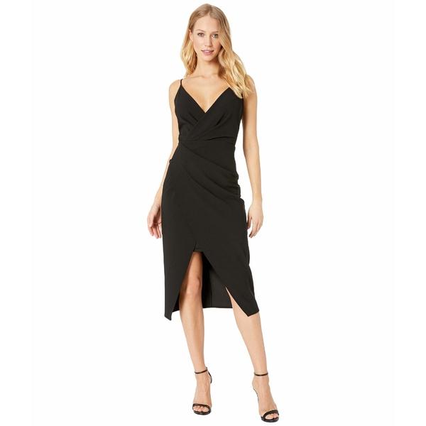 ベッツィジョンソン レディース ワンピース トップス Scuba Crepe V-Neck Faux Wrap Dress Black