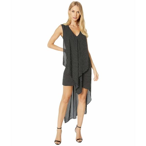 ビーシービージーマックスアズリア レディース ワンピース トップス Tara Cascade Ruffle Dress Black/Mini Floral Dots