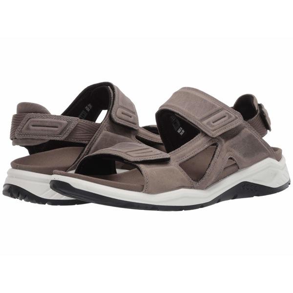 エコー メンズ サンダル シューズ X-Trinsic Leather Sandal Warm Grey