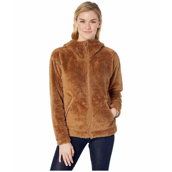ノースフェイス レディース コート アウター Furry Fleece Hoodie Cedar Brown