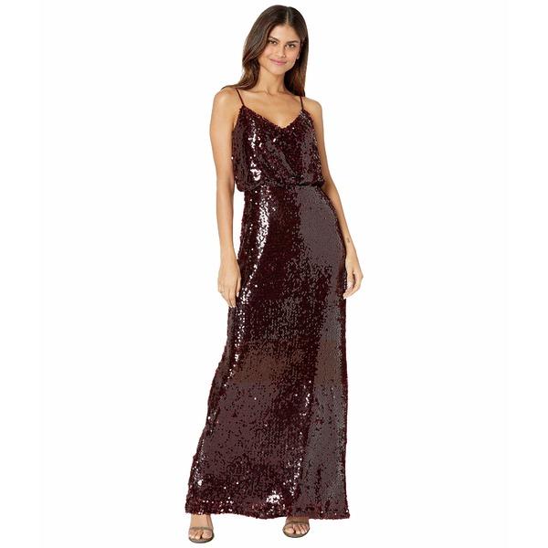 ワイフ レディース ワンピース トップス The Savannah Blouson Cami Gown Burgundy