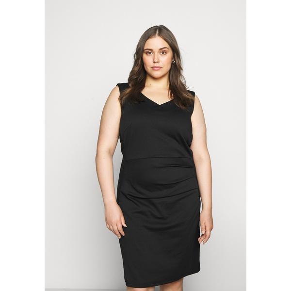 カフェ カーブ レディース トップス ワンピース black deep 新作通販 dress zyfc017d SALLY DRESS Shift - 全商品無料サイズ交換 無料サンプルOK