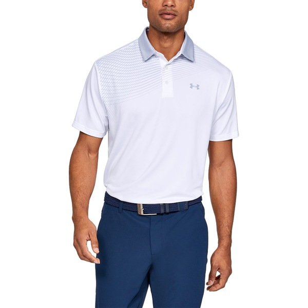 アンダーアーマー メンズ ポロシャツ トップス Under Armour Men's Playoff 2.0 Backswing Golf Polo White/ModGray