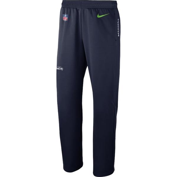 ナイキ メンズ カジュアルパンツ ボトムス Seattle Seahawks Nike Sideline Performance Pants College Navy