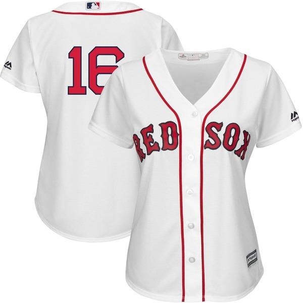 マジェスティック レディース シャツ トップス Andrew Benintendi Boston Red Sox Majestic Women's Team Cool Base Player Jersey White
