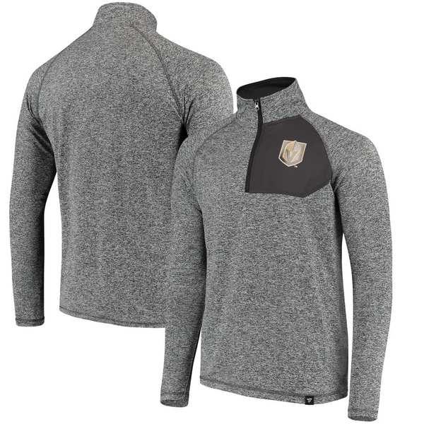 ファナティクス メンズ ジャケット&ブルゾン アウター Vegas Golden Knights Fanatics Branded Static Quarter-Zip Jacket Heathered Gray/Black