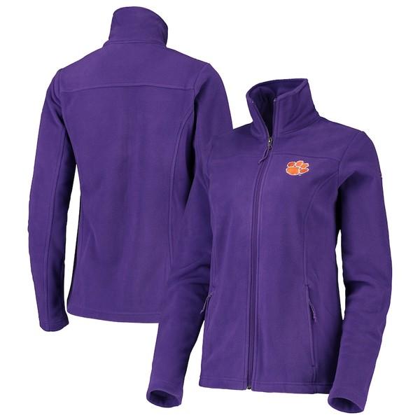 コロンビア レディース ジャケット&ブルゾン アウター Clemson Tigers Columbia Women's Give & Go II Fleece Full-Zip Jacket Purple