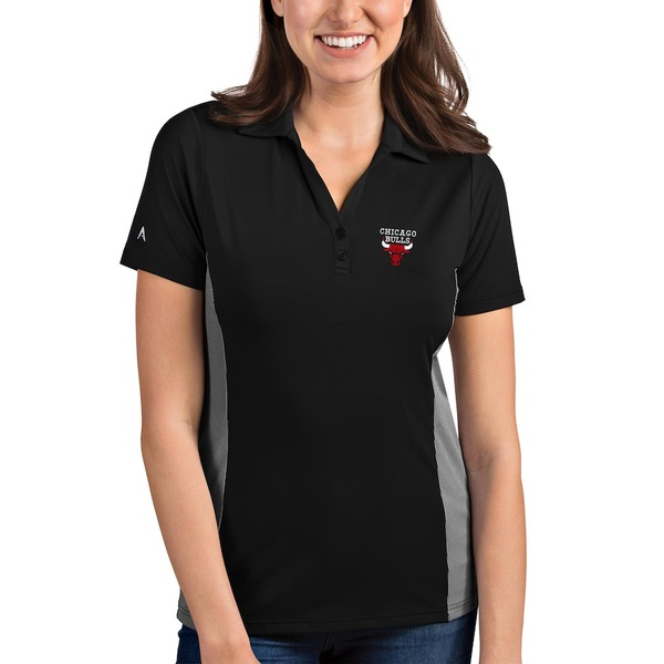 アンティグア レディース ポロシャツ トップス Chicago Bulls Antigua Women's Venture Polo Black/White