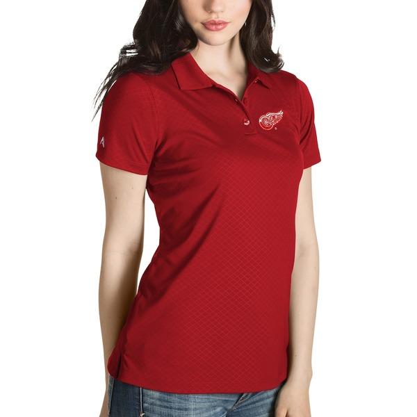 アンティグア レディース ポロシャツ トップス Detroit Red Wings Antigua Women's Inspire Desert Dry Polo Red