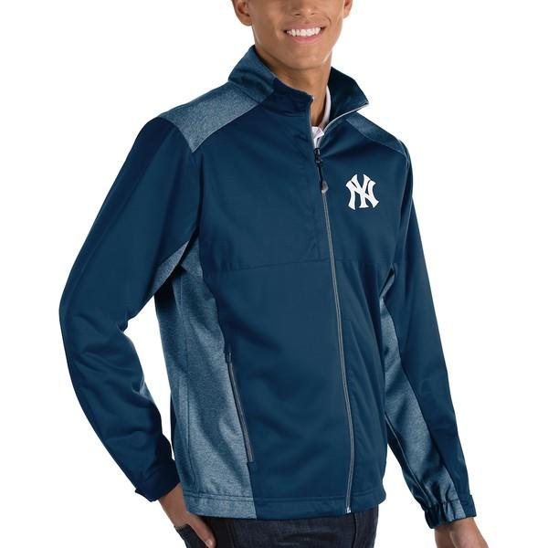 アンティグア メンズ ジャケット&ブルゾン アウター New York Yankees Antigua Revolve Full-Zip Jacket Navy