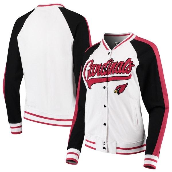 ニューエラ レディース ジャケット&ブルゾン アウター Arizona Cardinals New Era Women's Varsity Full Snap Jacket White/Black