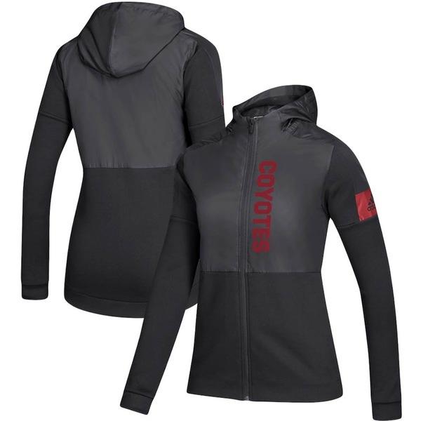 アディダス レディース ジャケット&ブルゾン アウター Arizona Coyotes adidas Women's Game Mode Full-Zip Jacket Black