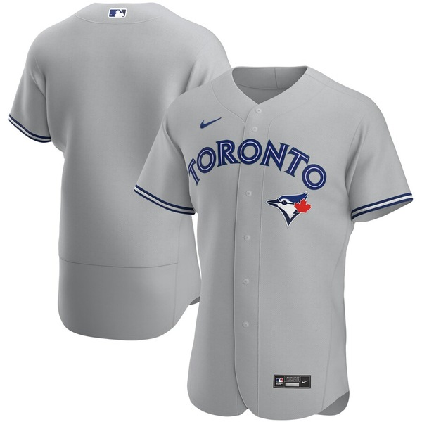 ナイキ メンズ シャツ トップス Toronto Blue Jays Nike Road 2020 Authentic Team Jersey Gray