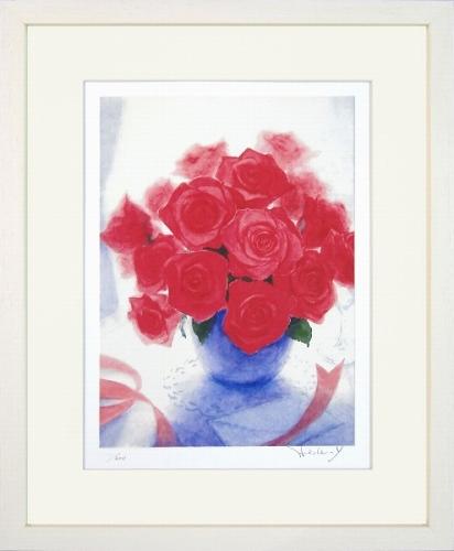 【版画・絵画】山口英明『薔薇の花束』ジクレー■限定200部・新品★