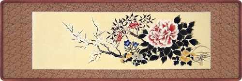 【日本画・絵画】田中珠香『四季草花 (欄間)』日本画■新品★