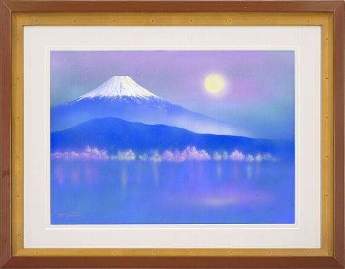 【日本画・絵画】勢克史『富士眺望』日本画■新品★