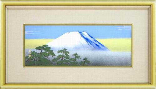 【日本画・絵画】五十川昇乗『富士』日本画■★