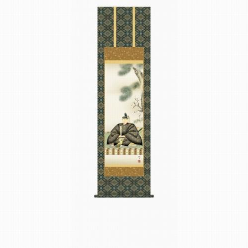 【掛け軸・掛軸】長江桂舟『天神(尺三立)』版画+手彩色■表装済み・新品★