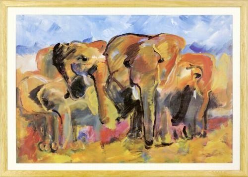 【絵画】Marijke Cruysberg『Elephants』複製画■新品★