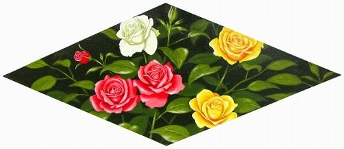 【油絵・絵画】朝隈敏彦『薔薇』油彩画・サイズ■新品★