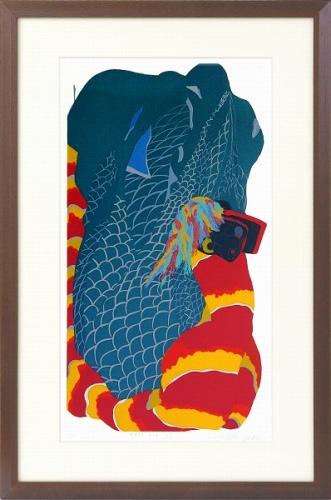 【版画・絵画】田中正秋『御頭神事の獅子舞 山形』シルクスクリーン■限定115部・新品★
