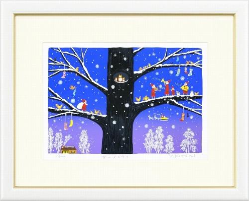 【版画・絵画】吉岡浩太郎『雪のメロディ』シルクスクリーン■限定500部・新品★