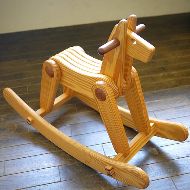 飛鳥工房【キットひかる完成品・組み立て代込】 木馬 手作り 日本製 木馬 手作り -木のおもちゃ飛鳥工房