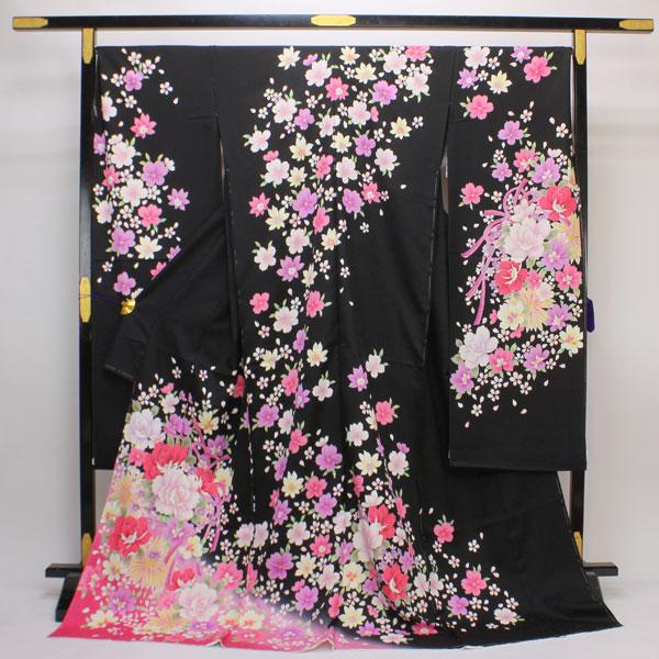 【お仕立て付き】振袖 紋織り地 花リボン fs129【smtb-k】【w1】【後払い決済不可】
