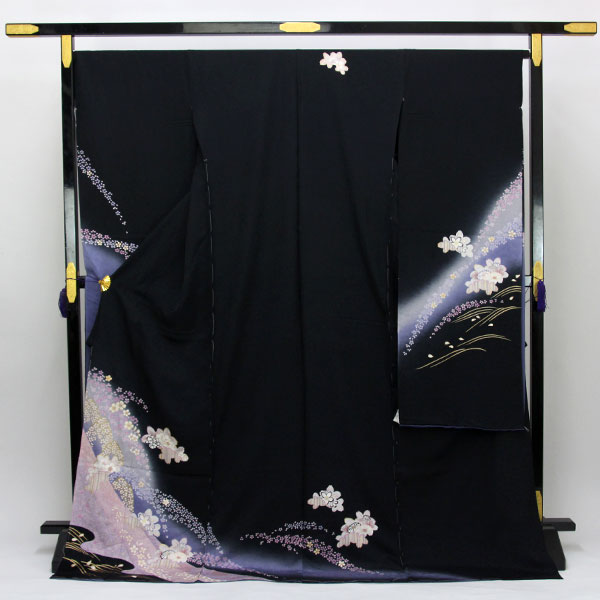 【袷のお仕立て付き】桜地紋 紋意匠 金駒刺繍 金彩加工 振袖「花」fs483 【smtb-k】【w1】【後払い決済不可】