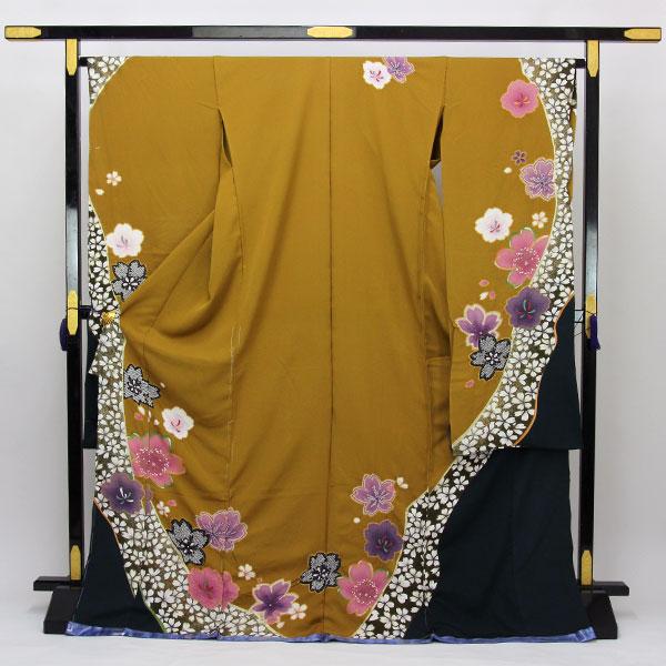 【袷のお仕立て付き】金彩加工 絞り 振袖「桜」fs487 【smtb-k】【w1】【後払い決済不可】