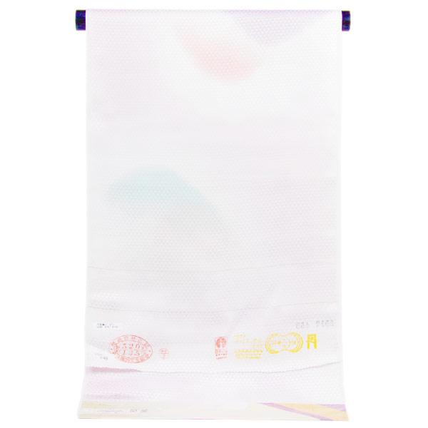 【袖無双胴抜きのお仕立て付き】丹後ちりめん 日本の絹 鱗紋織地 ぼかし 長襦袢 nj1937【smtb-k】【w1】【後払い決済不可】
