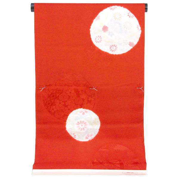 長襦袢 公式サイト 振袖用 赤 毬柄 絞り 上品 商品番号nj2048 エレガント 毬 特別セール品 あすかや 高級長襦袢地
