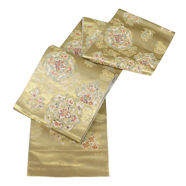 【お仕立て付き】西陣名門 となみ織物謹製 引箔錦 袋帯 「彩宴」 fo2126【smtb-k】【w1】