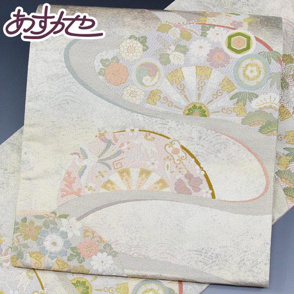 驚きの値段で お仕立て付き 日本製 西陣織 豪華絢爛 手織 全通「御車能衣波文様」桐箱入り あすかや fo2286